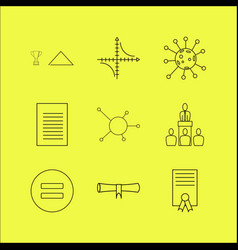 Education linear icon set simple outline icons vector