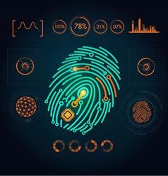 fingerPrint preview vector image vector image