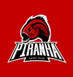 Furious piranha sport logo concept isolated vector