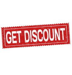 get discount grunge rubber stamp vector image