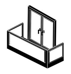 glass balcony icon simple style vector image