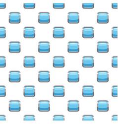 Light blue square button pattern vector