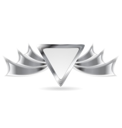 Metallic silver logo element vector