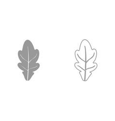 oak leaf it is black icon vector image vector image
