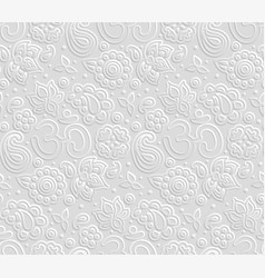 paper 3d om seamless pattern vector image vector image