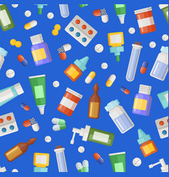 Pharmacy medicines pills and potions vector