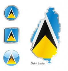 Saint lucia vector