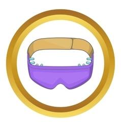 Sleeping mask icon vector