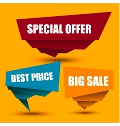 Special Offer Big sale Best Price Marks vector image