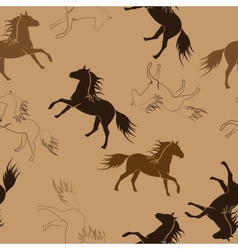 The running horses vector