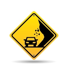 traffic sign concept icon car caution vector image