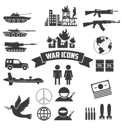 War icons vector