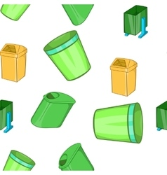 Garbage storage pattern cartoon style vector