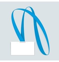 Id card mockup vector image