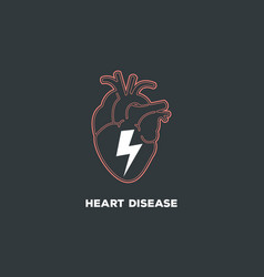 Heart disease logo icon symbol vector