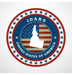 Vintage label idaho vector