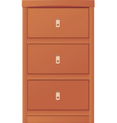 Light-colored simple cupboard vector