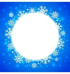 Winter  round frame with snowflakes and highlights vector
