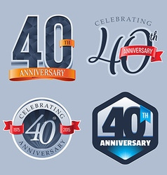 40 Years Anniversary Logo vector image vector image