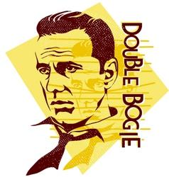 original Humphrey Bogart vector image