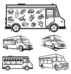 Food truck icon designs vector