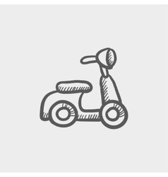 Scooter sketch icon vector
