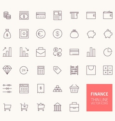 Finance outline icons for web and mobile apps vector