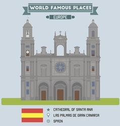 Cathedral las palmas de gran canaria vector