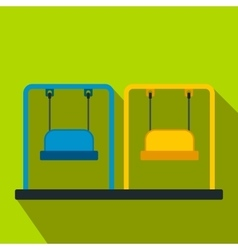 Playground swing flat icon vector
