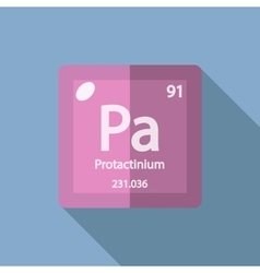 Chemical element protactinium flat vector