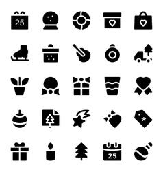 Christmas icons 5 vector