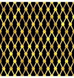 Seamless pattern golden fashion background vector