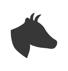 Cow icon animal silhouette design graphic vector