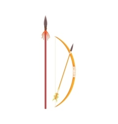 African spear bow and arrow realistic simplified vector