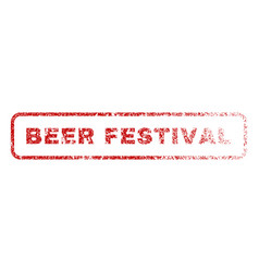 beer festival rubber stamp vector image