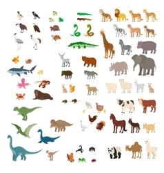 Big set of cartoon animals vector