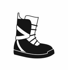 Boot for snowboarding icon simple style vector image vector image