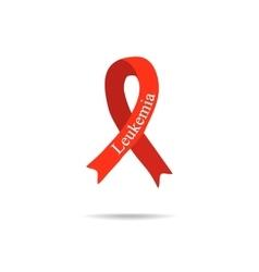 Cancer ribbon leukemia international day of vector