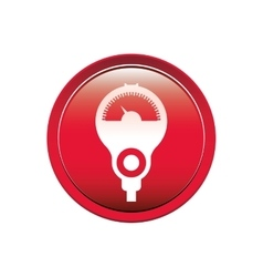 Circular button with parking meter vector