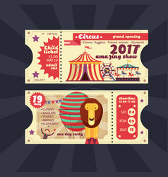 Circus magic show ticket vintage design vector