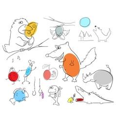 Crazy animals vector image vector image