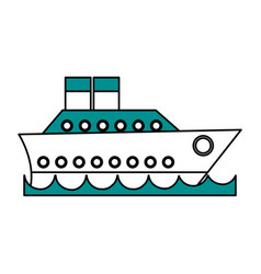 Cruise ship icon image vector