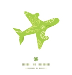 environmental airplane silhouette pattern frame vector image