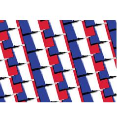 Grunge france flag or banner vector