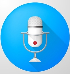 icon for blog White vertical microphone vector image vector image