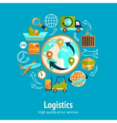 Logistic chain concept vector