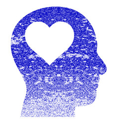 Lover head grunge textured icon vector