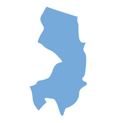 new jersey state map vector image