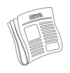 newspaper newspaper for the cover of a vector image