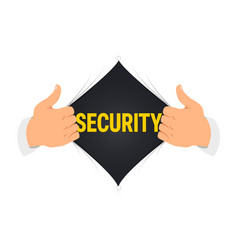 Opening shirt security vector